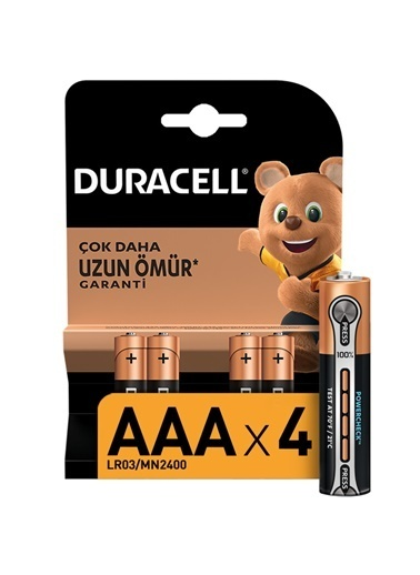 Duracell Duracell Dayanıklı 4'Lü Alkaline Aaa 1,5V Pil Renkli